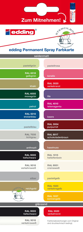 edding permanent acryl spray premium acryllack in 30 farben