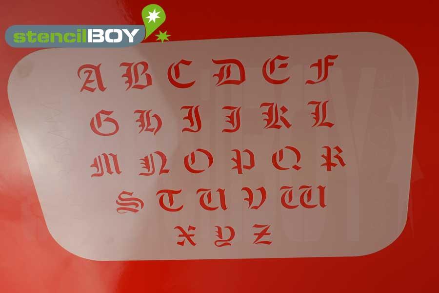 Buchstabenschablone