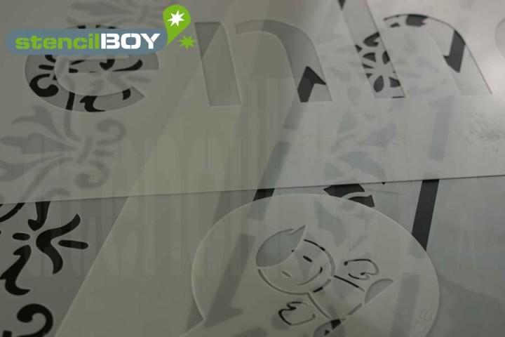 Kunststoffschablone - Individuelle, wiederverwendbare Schablonen aus PET Kunststoff