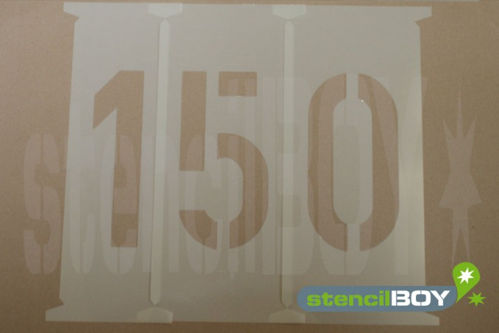 Number Stencils 150 - 250mm according to DIN 1451