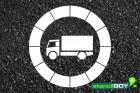 """Verkehrszeichen Schablone """"Verbot für LKW"""""""