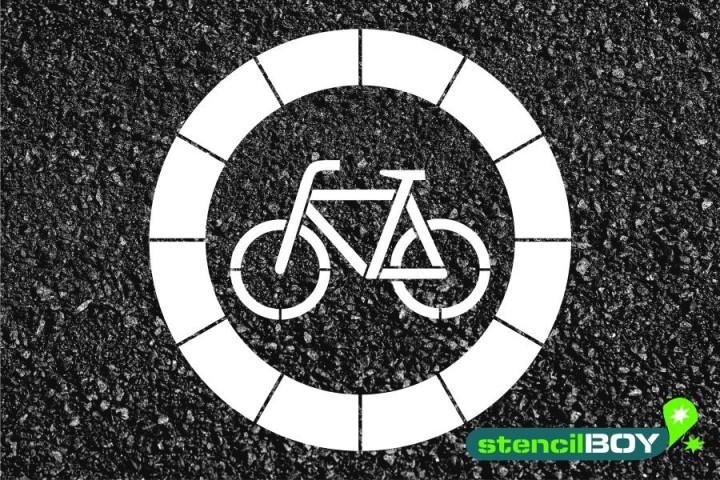 """Verkehrszeichen Schablone """"Verbot für Radfahrer"""""""