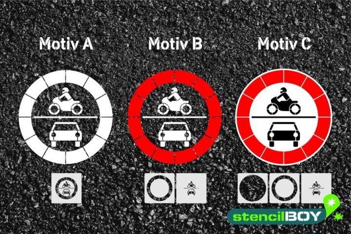 """Verkehrszeichen Schablone """"Verbot für Kraftfahrzeuge"""""""