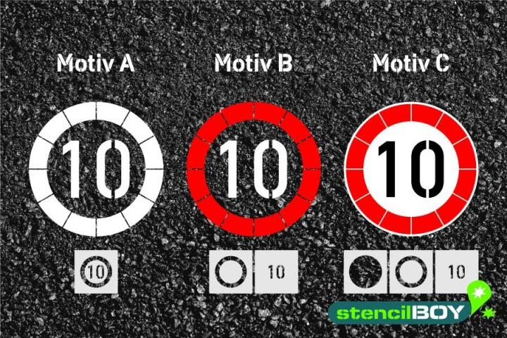 """Verkehrszeichen Schablone """"Zulässige Höchstgeschwindigkeit"""""""