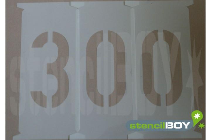 Zahlenschablonen 300 - 450mm nach DIN 1451