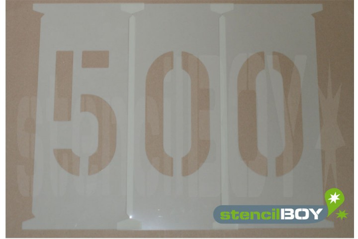 Number Stencils 500 - 650mm according to DIN 1451