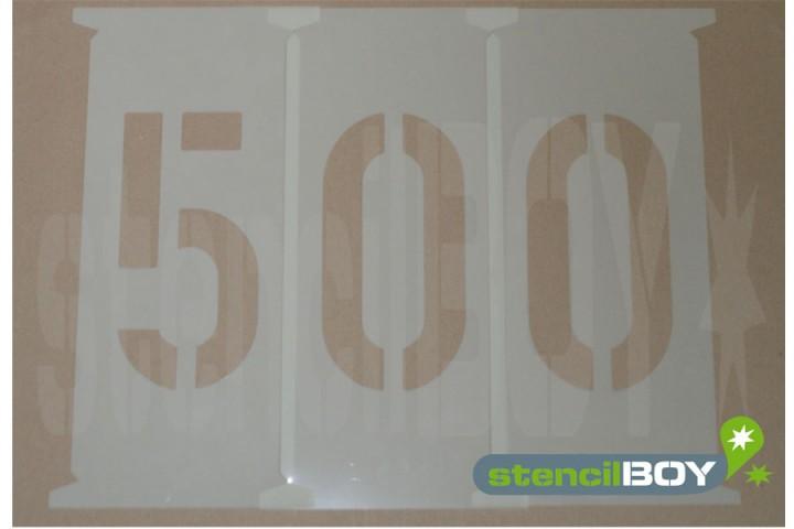 Zahlenschablonen 500 - 650mm nach DIN 1451