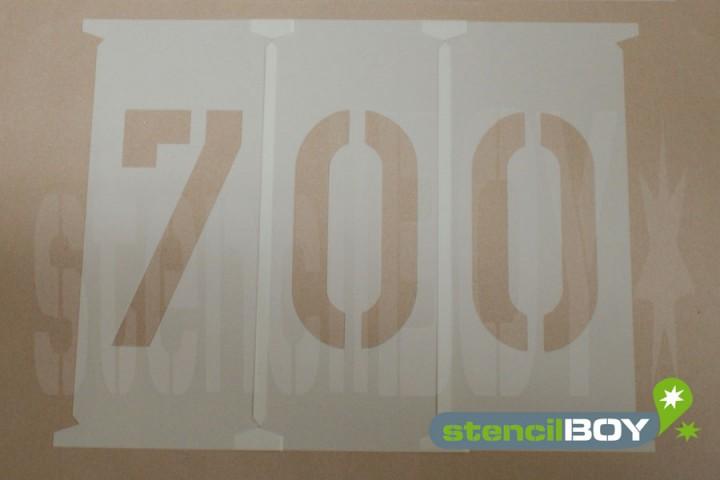 Zahlenschablonen 700 - 750mm nach DIN 1451