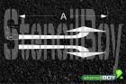 Richtungspfeil links ab/rechts ab nach RMS - Bodenmarkierungsschablone