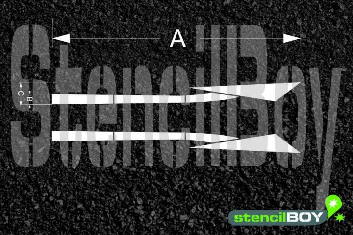 Richtungspfeil nach links/rechts wechseln nach RMS - Bodenmarkierungsschablone