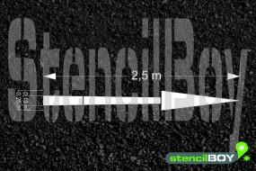 2500mm Richtungspfeil geradeaus nach RMS - Bodenmarkierungsschablone