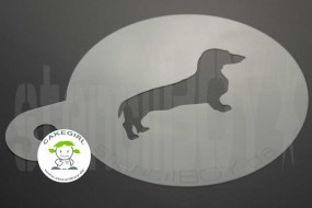 "Cappuccino coffee stencil ""Dachshund Guenther"""