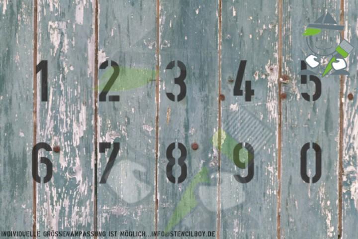 Zahlenschablone Schriftart nach DIN1451
