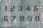 Zahlenschablone Schriftart AE