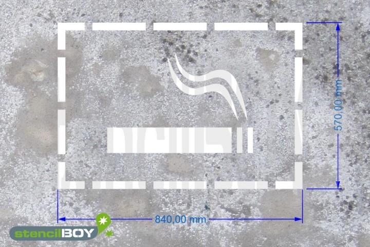 """""""Raucherbereich"""" Boden- und Wandmarkierungsschablone"""
