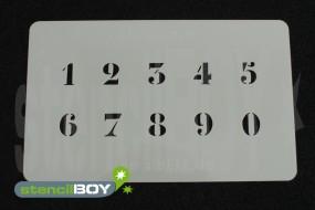 Zahlenschablone Schriftart LE