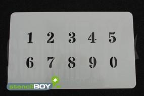 Zahlenschablone Schriftart DO