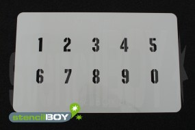 Zahlenschablone Schriftart KI