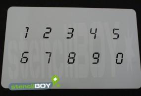 Zahlenschablone Schriftart LD