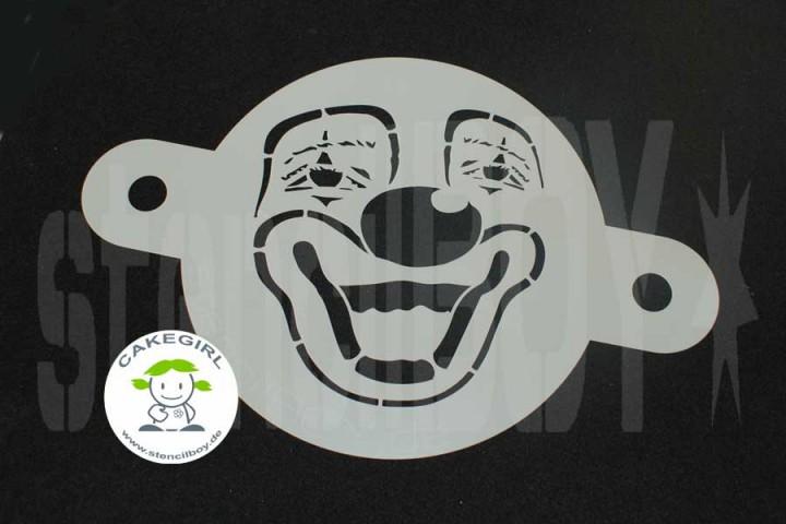 """Cake Stencil- """"Clown"""""""
