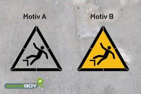 Warnung vor Absturzgefahr - Schablonen