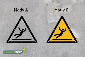Warnung vor Rutschgefahr - Schablonen