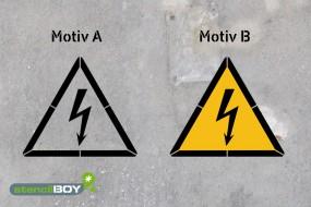 Warnung vor elektrischer Spannung - Schablonen