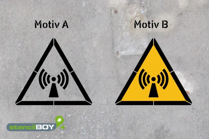 Warnung vor nicht ionisierender Strahlung - Schablonen