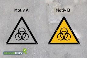 Warnung vor Biogefährdung - Schablonen