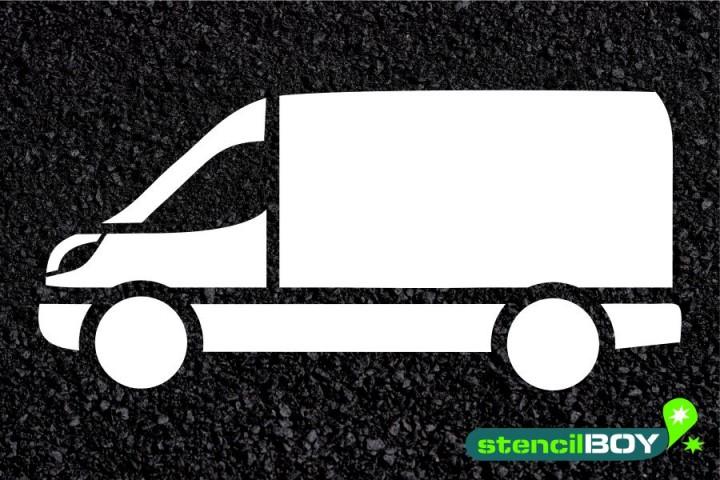 """""""Transporter"""" - Bodenmarkierungs-Schablone XXL"""