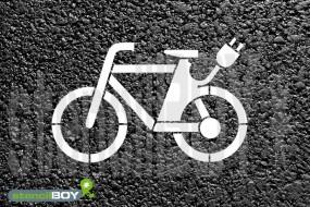 """""""E-Bike"""" Bodenmarkierungs-Schablone"""