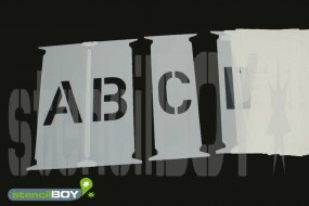 einzelne Buchstaben-Steckschablone in Hausschrift HS