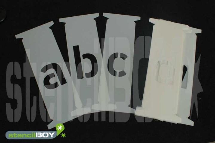Kleinbuchstaben-Steckschablonen a-z in Hausschrift HS