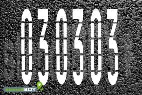 4000mm Ziffern/Zahlenschablonen nach RMS - Bodenmarkierungsschablone