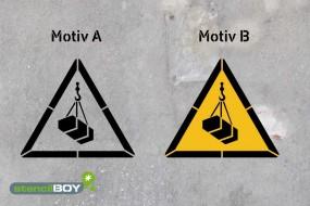 Warnung vor schwebender Last - Schablonen