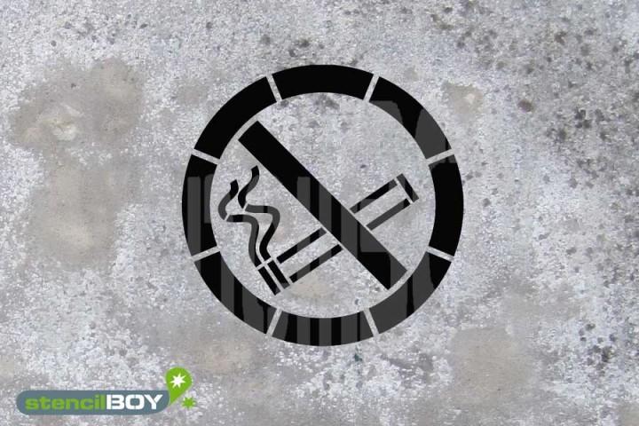"""Schablone """"Rauchen verboten"""""""