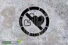 """Schablone """"Kein Zutritt für Personen mit Herzschrittmachern oder implantierten Defibrillatoren"""""""