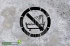 """Schablone """"Verbot dieses Gerät in der Badewanne, Dusche oder über mit Wasser gefülltem Becken zu ben"""