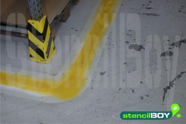 Warnmarkierungsschablonen zur Bodenmarkierung