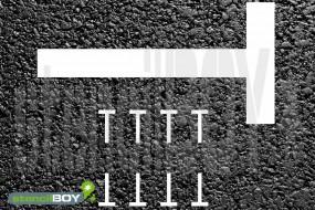 T-Linienschablone zur Parkmarkierung