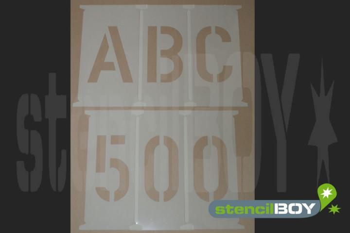 Buchstabenschablonen 500 - 650mm nach DIN 1451