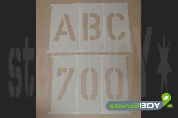 Alphabet Stencils 700 - 750mm according to DIN 1451