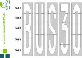 4000mm Buchstabenschablonen nach RMS - Bodenmarkierungsschablone