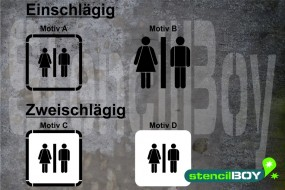 Women-Men/Damen-Herren/Unisex-WC - Schablonen