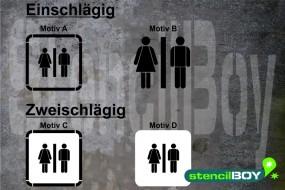 Women-Men/Damen-Herren/Unisex-WC - Schablonen