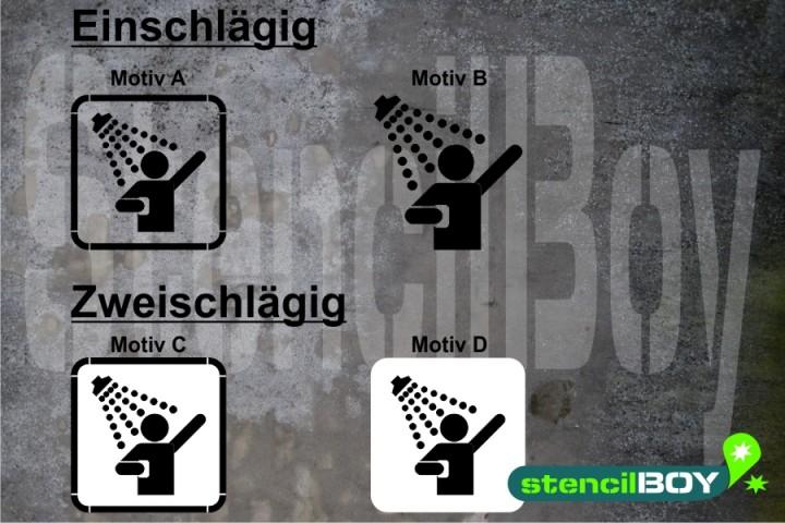 Dusche/Shower - Schablonen