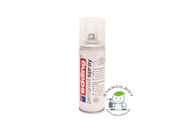 edding Permanent Spray Klarlack - seidenmatt oder glänzend