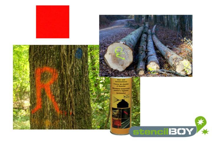 Bau- und Forstmarkierungsspray- leuchtrot DUPLI-COLOR