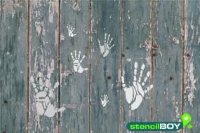 """Dekoschablone """"Hand Skelett"""""""