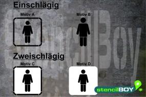 Men/Herren WC - Schablonen Version 2